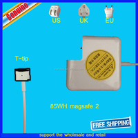 "Original 20V 4.25A 85w Magsafe2 Power Adapter Charger for Apple MacBook Pro 15"" 17"" A1424 charger for macbook pro a1398"