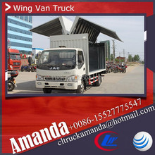 China cheap price JAC 4*2 108hp small wing van truck