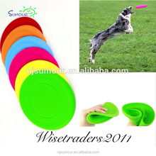 SOFT SILICONE RUBBER FRISBY DOG PUPPY BEACH FRISBEE THROW EXERCISE TRAINING UK