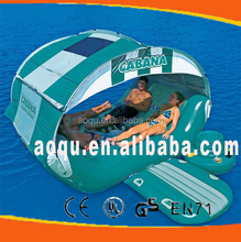 inflatable floating island/inflatable floating cabana/water floating lounge