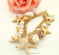 RDW Bracelet Hawaii Style Jewlry Starflish And Shell Bracelet