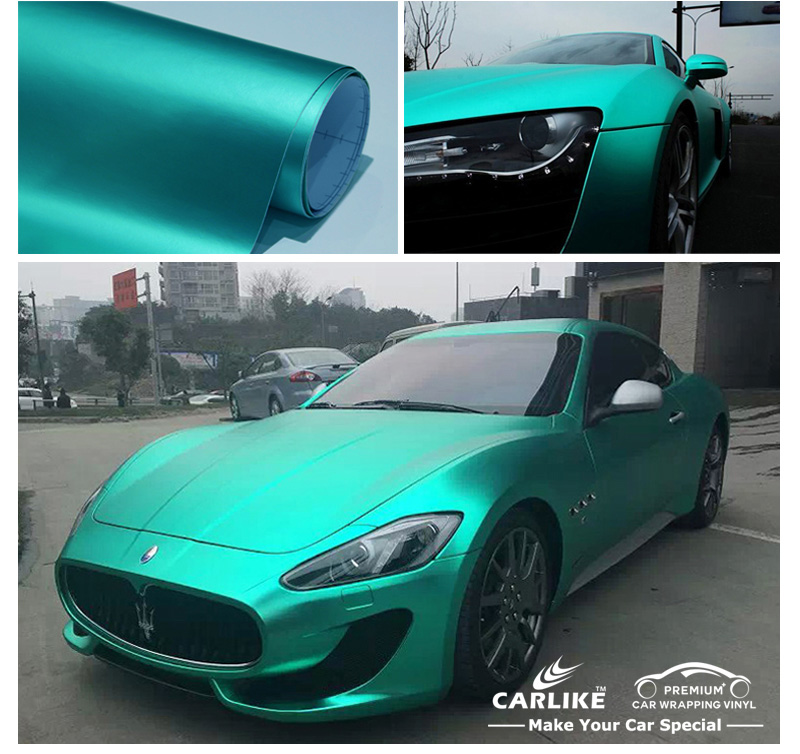 CARLIKE Satin Chrome Metallic Matt Car Wrapping Vinyl Roll