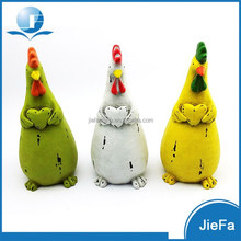decorative chicken easter with heart / easter animal for spring home ornaments / garden decorations