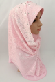 Muslim lace fashion two peices hijab scarf,inner hijab can wear seperate islamic wedding hijab ML0670a