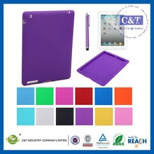 C&T Newest simple design rubber gel silicone case for ipadair 2