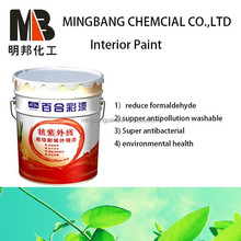 Washable interior silk plaster wall paint