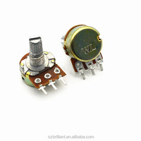 High Quality WH148 B100K Linear Potentiometer 15mm Shaft