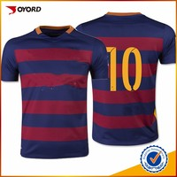 2016 custom wholesale high quality cheap Blank sublimated football shirt maker soccer jersey