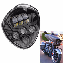 Motorcycle Parts LED Headlight Headlamp 12V with High&Low Beam For Victory Cross Country