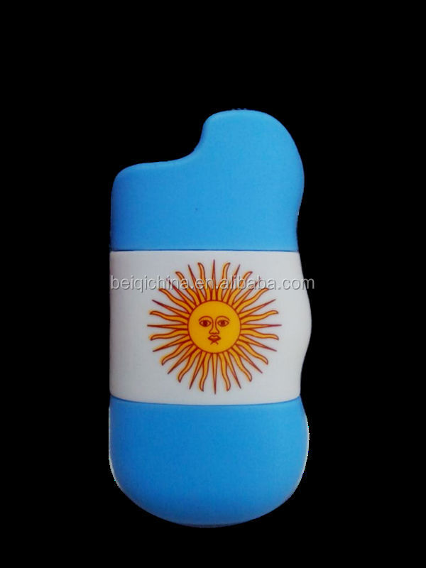 Flag logo Eco-friendly 3D/2D custom promotional gifts silicone lighter cover