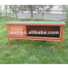 High Quality One Tier 5FT Wooden Outdoor Rabbit Cage with Plastic Tray