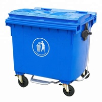 cheap 1100L/1200L outdoor large plastic dustbin trash can garbage bin in stock