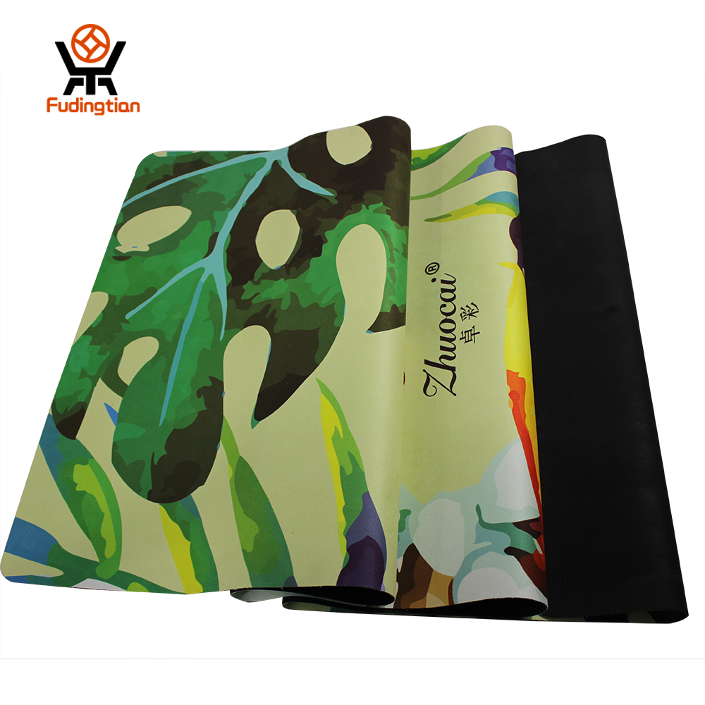 FDT Unique Printing Natural Rubber Prints Yoga Mat Rubber