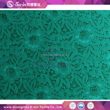 hot selling french swiss fashion spandex elastic wave voile teal lace fabric for baby clothing