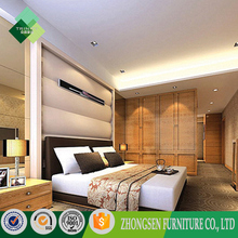 Professional customized hotel furniture wood carving bedroom furniture ZSBFS-55