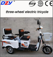 three-wheel electric tricycle with two seats customized for handicapped
