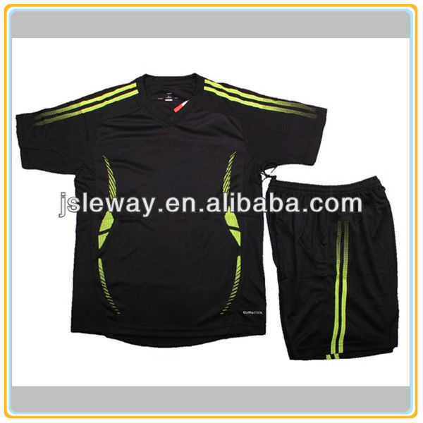 Black custom soccer jereys/soccer jerseys kids sets
