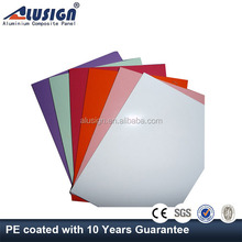 Alusign top selling competitive price anti-toxic polyethylene bathroom sheet wall aluminium composite panel