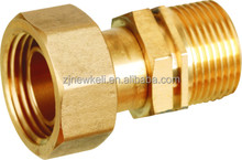 gas meter connector/brass fitting/brass coupling