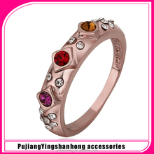 High-grade fine not allergic jewelry 18 k rose gold fashion rings