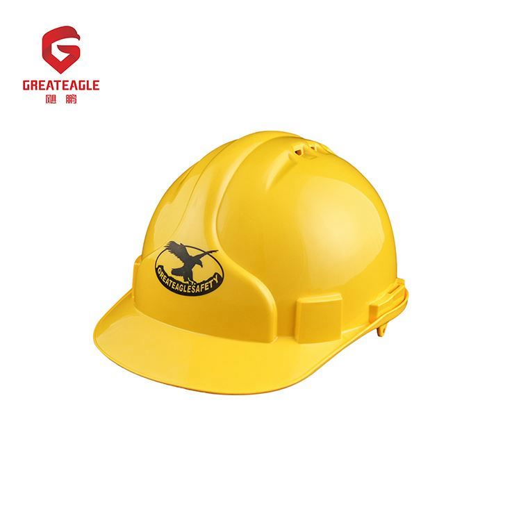 Bright shell surface customized logo safety helmet harness