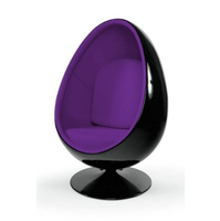 leisure fashionable design fiberglass space Eye Ball cheap pod chair