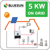 Bluesun high quality grid-tied and off-grid 5kw waterproof solar power system