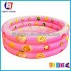 PVC Pink Three Tubes Inflatable Pool,Inflatable Kids Swimming Pool For Outdoor Product
