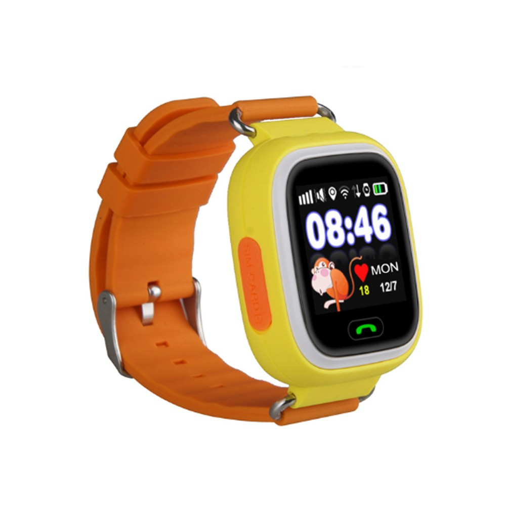 For parents love wrist GPS kids tracker watch mobile phone with rich function Q100