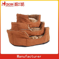 faux suede plush sofa bed for dog and cat