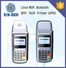 Smart Handheld POS Terminal with Linux System support NFC Reader,MSR,GPRS,IC Card,Printing