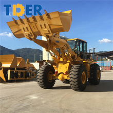 Selling yard leaf front end loader 6 ton grapple loader with hydraulic torque converter