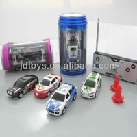 Multicolor Coke Can Mini Speed RC Radio Remote Control Micro Racing Car Toy Gift 4 Channels Children's Electric Car