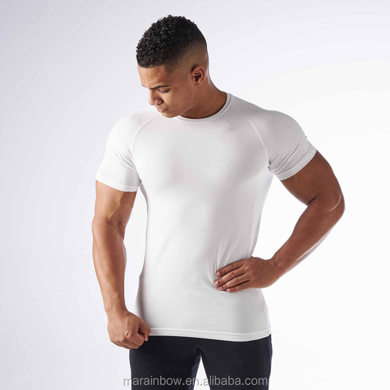Top Quality 95% Polyester 5% Spandex Performance Cool Dry Fit Sports T Shirt Raglan Short Sleeve White Blank T-Shirt Wholesale