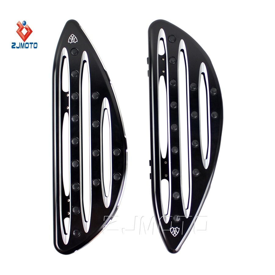 Motorcycle Bike Black Deep-Cut Driver Floorboard Floor Boards For Harley Davidson New