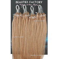 "Beauties Factory 20"" Micro Loop Straight Remy Human Hair Extensions 50g #14 Natural Ash Blonde"