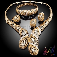 Pakistan dazzling handmade fashion jewelry sets best-selling gold jewelry set diaphanous jewelry sets