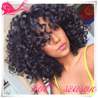 Brazilian Afro Kinky Curly Virgin Hair Wigs 100% Human hair 1B Machine Made Wig For Black Women