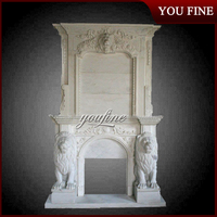 Marble Lion Fireplace