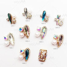 2017 3D Korean Style Fashion Design Nail Art Nail Jewelry Flat Back Accessories For Bride