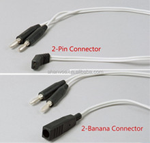 Ahanvos high quality bipolar cable with silicon rubber and standard 3m length,2-pin Connector