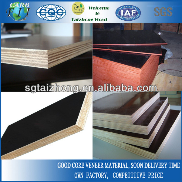 Construction red/brown/black film faced plywood 18mm phenolic wbp plywood