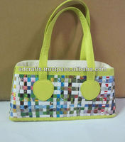 Special style 2017 recycle newspaper handbag