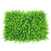 Yiwu Wholesale Cheap Indoor Decorative Vertical Artificial Grass Green Plants Wall