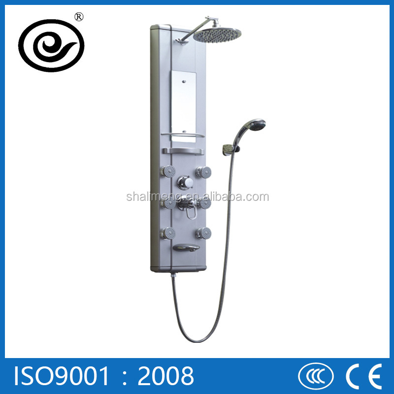 Aluminum Wall Mounted Shower Panel With Water Fall