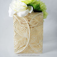 Beautiful decoration paper wedding invitation card models and wedding RSVP card