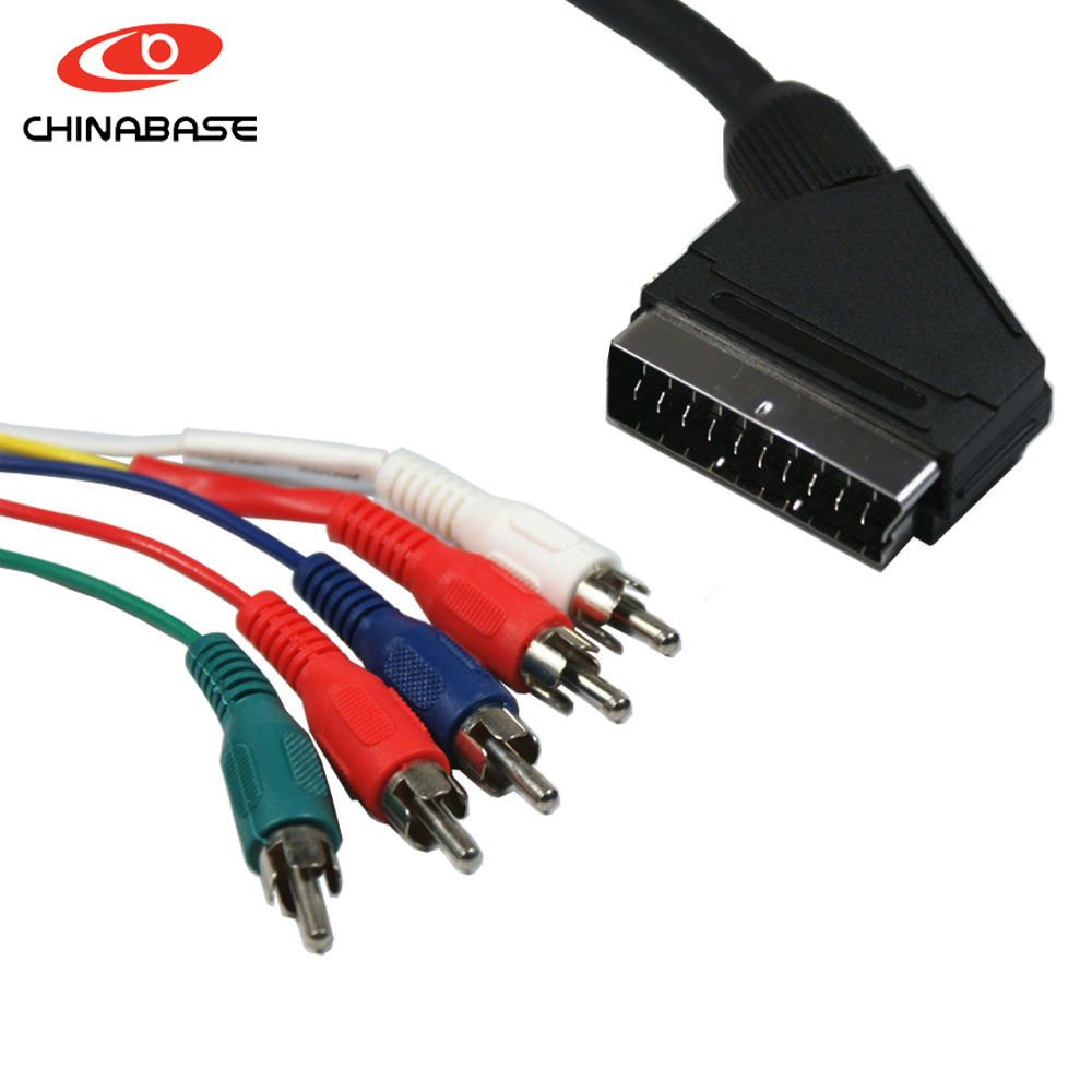scart cable to 4 rca cable