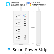 MXQ wireless smart wifi remote control plug socket 4-outlet power strip surge protector for alexa