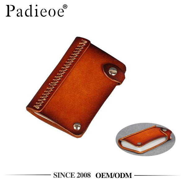 Padieoe PDA447-S handmade veg-tanned leather business card wallet