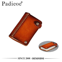 Padieoe PDA447-S handmade veg-tanned leather business card wallet
